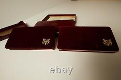 1 LOT OF 2 sets US Mint 1988 Olympics 2-coin proof set $5 Gold & $1 Silver