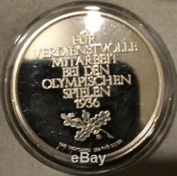 1936 Commemorative 1 Oz Silver Coin. Nazi Regime 36 Olympics