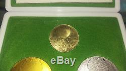 1964 Japan Tokyo Olympics XVII Official Gold Silver Bronze Medal/coin Set