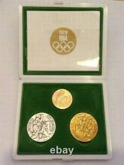 1964 Tokyo Olympic Gold Silver Bronze Coin / Medal Set for Athlete Participants