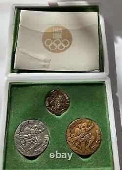 1964 Tokyo Olympics Gold Silver Bronze Coin Medal Case