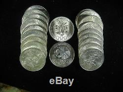 1968 Olimpiada 25 Peso Nice Choice Unc Roll Of 20 Coins. 720 Silver Olympics