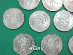 1968 Silver 25 Pesos Mexico Lot of 20 Olympic Unc BU Silver Coins High Ring Q1E1