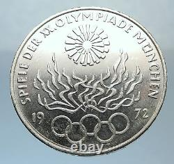 1972 Germany Munich Summer Olympic Games Antique Silver 10 Mark Coin i71383