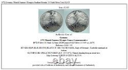 1972 Germany Munich Summer Olympics Stadium Genuine 10 Mark Silver Coin i82403