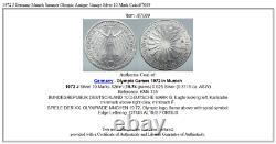 1972 J Germany Munich Summer Olympic Antique Vintage Silver 10 Mark Coin i87089