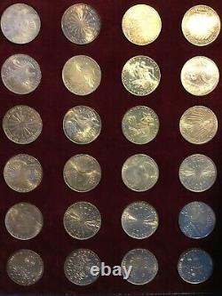 1972 Munich Germany Olympics Commemorative 10 Mark Silver Coin Set