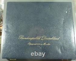 1972 Munich Olympic Coin Set 24 Silver Coins Germany 10 Deutsche Mark Unc