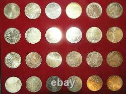 1972 Munich Olympic Silver Coin Complete 24 Piece Set Choice B. U K00032