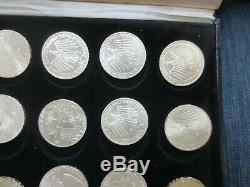 1972 Olympics Munich Federal Republic of Germany 24-Pc 10 Mark Silver Coin Set w