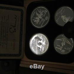 1974 Canada Olympic Silver Proof Coin Set $10 $5 Box And Papers 7 4 Coins Set