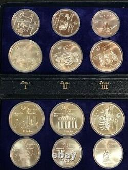 1976 $5 & $10 Montreal Canada Olympics Silver 28 Coin Set in Case 30.35 ozt