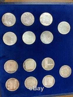 1976 Austria- Innsbruck Olympics Mint & Proof Silver 14 Coin Set
