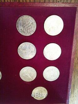 1976 Austrian (Innsbruck) Winter Olympic 14 Coin Set, 100 Shilling. 640 Silver