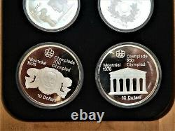1976 CANADA COMPLETE 28 COIN PROOF SILVER OLYMPIC SET, encapsulated and boxed