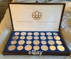 1976 CANADA OLYMPIC Uncirculated SET 28 Sterling Silver $5 & $10 Coins