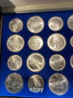 1976 Canada 28 Coin 30 oz Sterling Silver Olympic Set XXI Olympiad Montreal