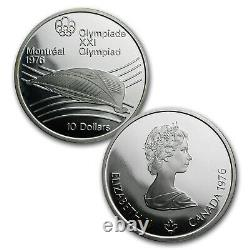 1976 Canada 4-Coin Silver Montreal Olympic Games Proof Set SKU #77146