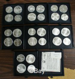 1976 Canada $5 & $10 Olympic BU Silver 28 Coins Set 1