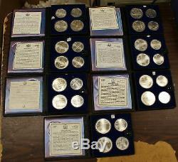 1976 Canada $5 & $10 Olympic BU Silver 28 Coins Set (B)