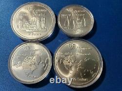 1976 Canada Montreal Olympic Silver 4 coin set