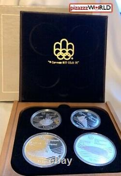 1976 Canada Montreal Olympics 4-Coin Set-Series VII. 925 Silver-4.3 Troy Ounces