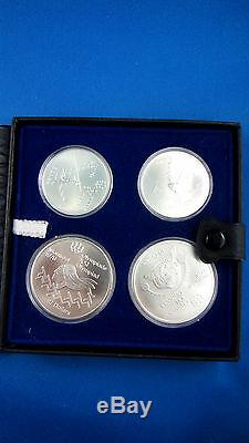 1976 Canada Montreal Olympics 4 coin set silver beautiful and unique coins