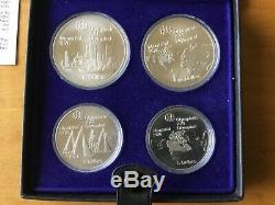 1976 Canada Montreal Olympics Silver 4-Coin Set-Series I Below spot price