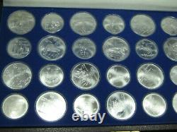 1976 Canada Olympic Complete Set 14 x $5 14 x $10 Sterling Silver 28 Coins Box
