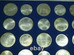 1976 Canada Olympic Set 14 x $5 14 x $10 Sterling Silver 28 Coins Box special $$
