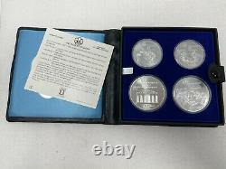 1976 Canada Olympic Silver 4 Coin Set 4.32 oz