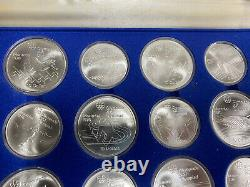 1976 Canadian Montreal Olympic Coin Set Silver 28 Coins Orig. Case Unc