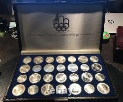 1976 Canadian Olympic 28 Coin Set Series V Water Sports $5 and $10 Silver Coins