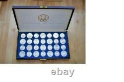 1976 Canadian Olympic Coins, Consisting Of 28 Silver Coins In Original Box