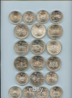 1976 Canadian Olympic Silver Coins Montreal 20 Silver Pieces #J15411