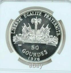 1976 Haiti Silver 50 Gourdes S50g Olympics Thin 6 Ngc Pf 68 Cameo Beautiful Coin