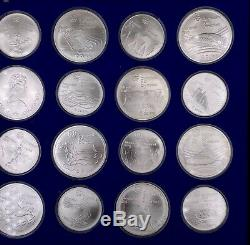 1976 Montreal Canada Olympic Games 28 Sterling Silver Coin Set $5 & $10 WithCase