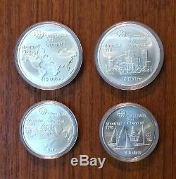 1976 Montreal Olympic COMPLETE Silver Coin Set (PROOF UNCIRCULATED IN CAPSULES)