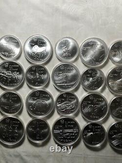 1976 Montreal Olympic Canada Silver Coin Full Set 28 in Original Case
