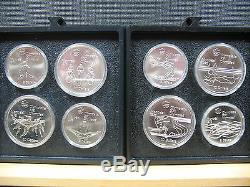 1976 Montreal Olympics 24 Coin Silver Set-rare Unc. Set Very Nice. &. Free Ship