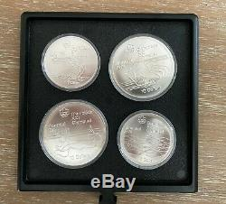 1976 Olympic Summer Games Montreal Silver Presentation Coin Set Mint Complete