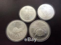 1976 Olympic silver set of 28 different coins encapsulated choice BU shiny