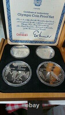 1976 PROOF Silver Canadian Montreal Olympic Games 28 COIN SET 30 OZ. TOTAL