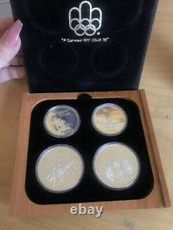 1976 Proof Silver Canadian Montreal Olympic Games Set -4 Coin Set # 1