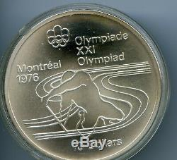 1976 Silver Canadian Montreal Olympic (28) COINS! $5 & $10 Silver 92.5% UC