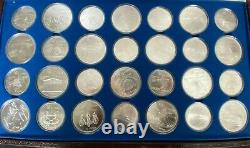 1976 Silver Canadian Montreal Olympic Games Set 28 Coins in original box