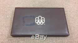 1976 Silver Canadian Montreal Olympic Games Set BU 28 Coin in original box