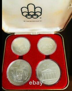 1976 Silver Canadian Montreal Olympics 4 Coin Set Series II Olympic Motifs