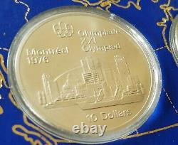 1976 Silver Canadian Montreal Olympics 4 Coin Set Uncirc 4.3oz. 999 pure silver