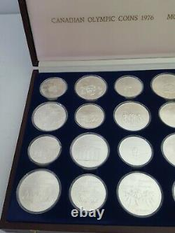 1976 Sterling Silver Coins Set Canada Olympics $5 $10 28 Coins in Box